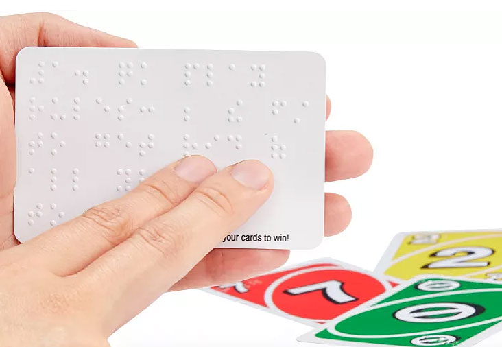 Mattel Relasese UNO Braille For Visually Impaired Players